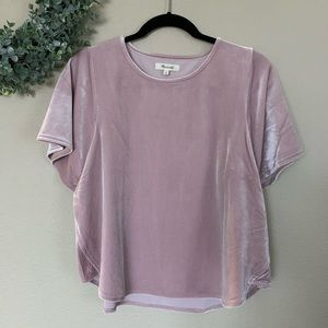 ✨ NWT Madewell | Pink Velvet Texture Top, Size M